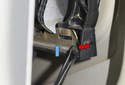Reverse these steps to install the carrier and door handle.