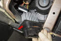Push the final stage toward the right side, then slide it (red arrow) out of the heater housing to remove.