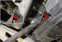 Then, remove the steering shaft coupler from the steering rack by sliding up and off.
