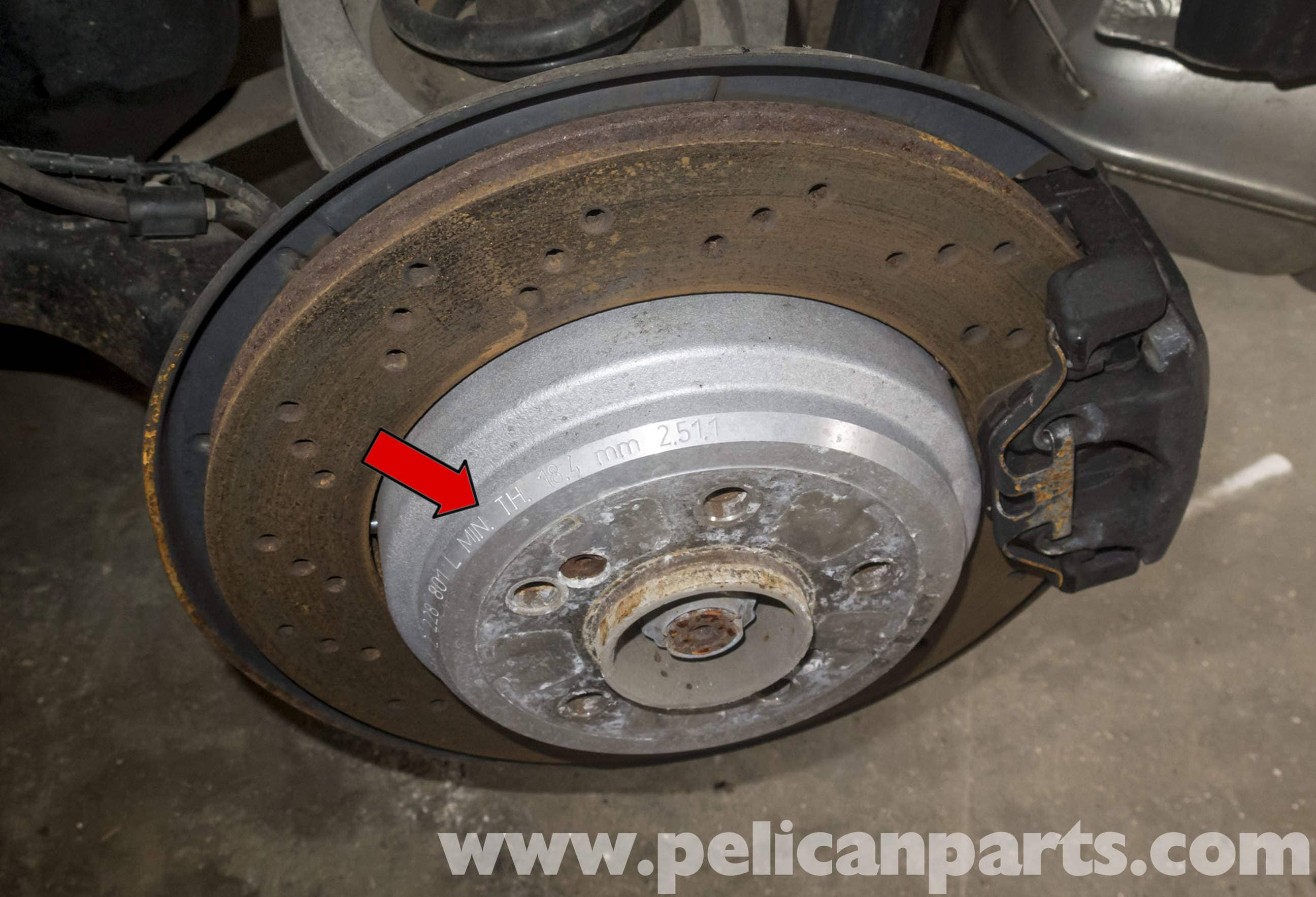 Bmw Z4 M Brake Rotor Specification Checking 2003 2006 Pelican Parts Diy Maintenance Article