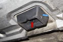 If a jack pad is missing, replace it before jacking vehicle, otherwise body damage can occur.