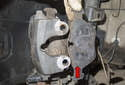 Remove brake caliper from mounting bracket.
