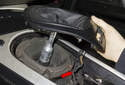 Slide shift boot up and off shifter.
