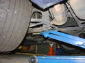 Jacking up the rear of the car can be easy: if you have a long-reach jack.