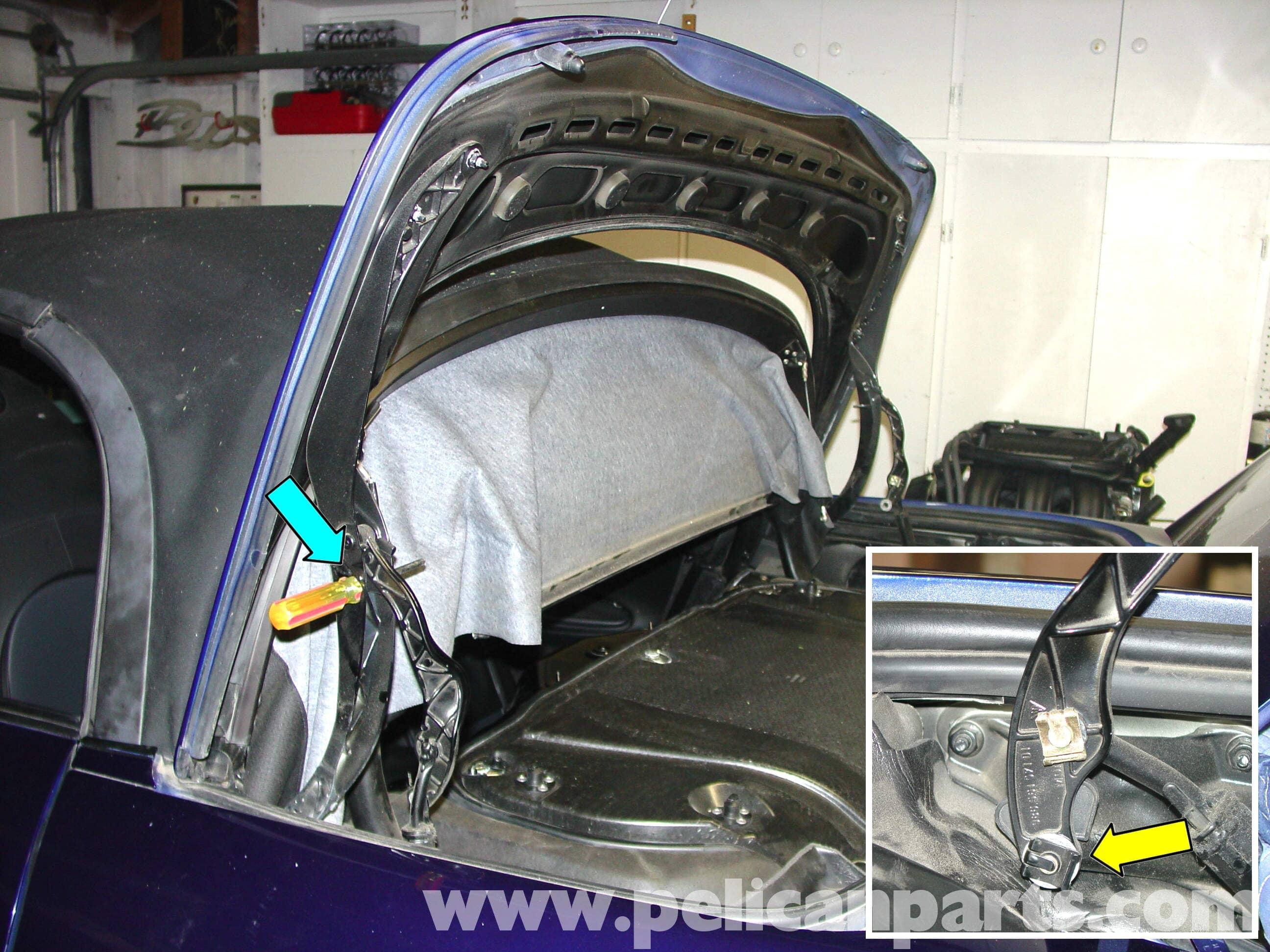 Porsche boxster engine compartment access