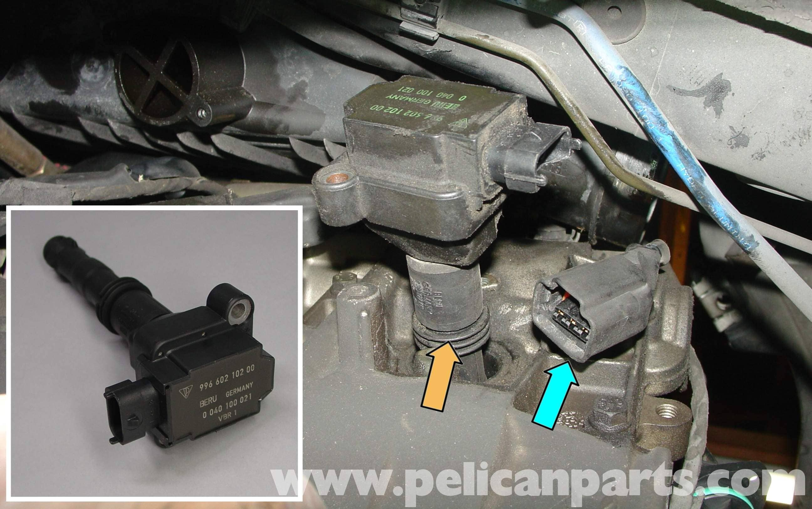 Porsche Boxster Spark Plugs And Coils Replacement 986 987 1997 2004 Saab 9 3 Convertible Radio Wiring Large Image Extra
