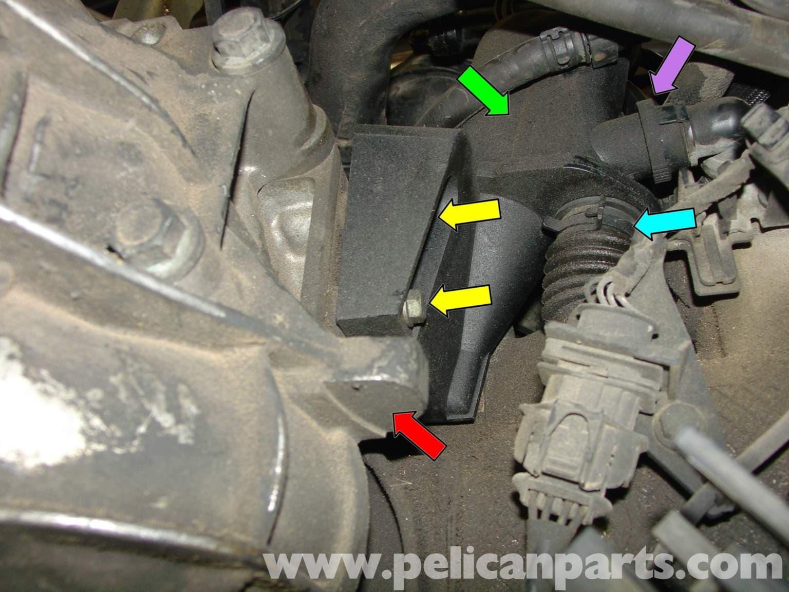 Porsche Boxster Air / Oil Separator Replacement - 986 / 987 (1997-08) - Pelican Parts Technical ...