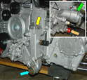 There are a few items on the front of the engine that need to be swapped with pieces from your donor Boxster engine.