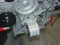 Shown here is the Boxster mount test fitted to the front of the 996 engine.