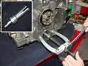If your center stud breaks, then you will need to use an internal bearing puller like the one shown here.