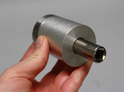 Use a deep socket tool to hand-tighten down the nut on the bolt and secure the assembly together.