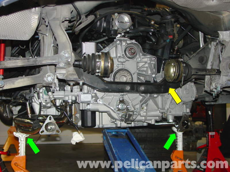 Porsche Boxster Engine Drop Removal 986 987 1997 08