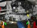 This photo shows the engine about half-way out of the Boxster.
