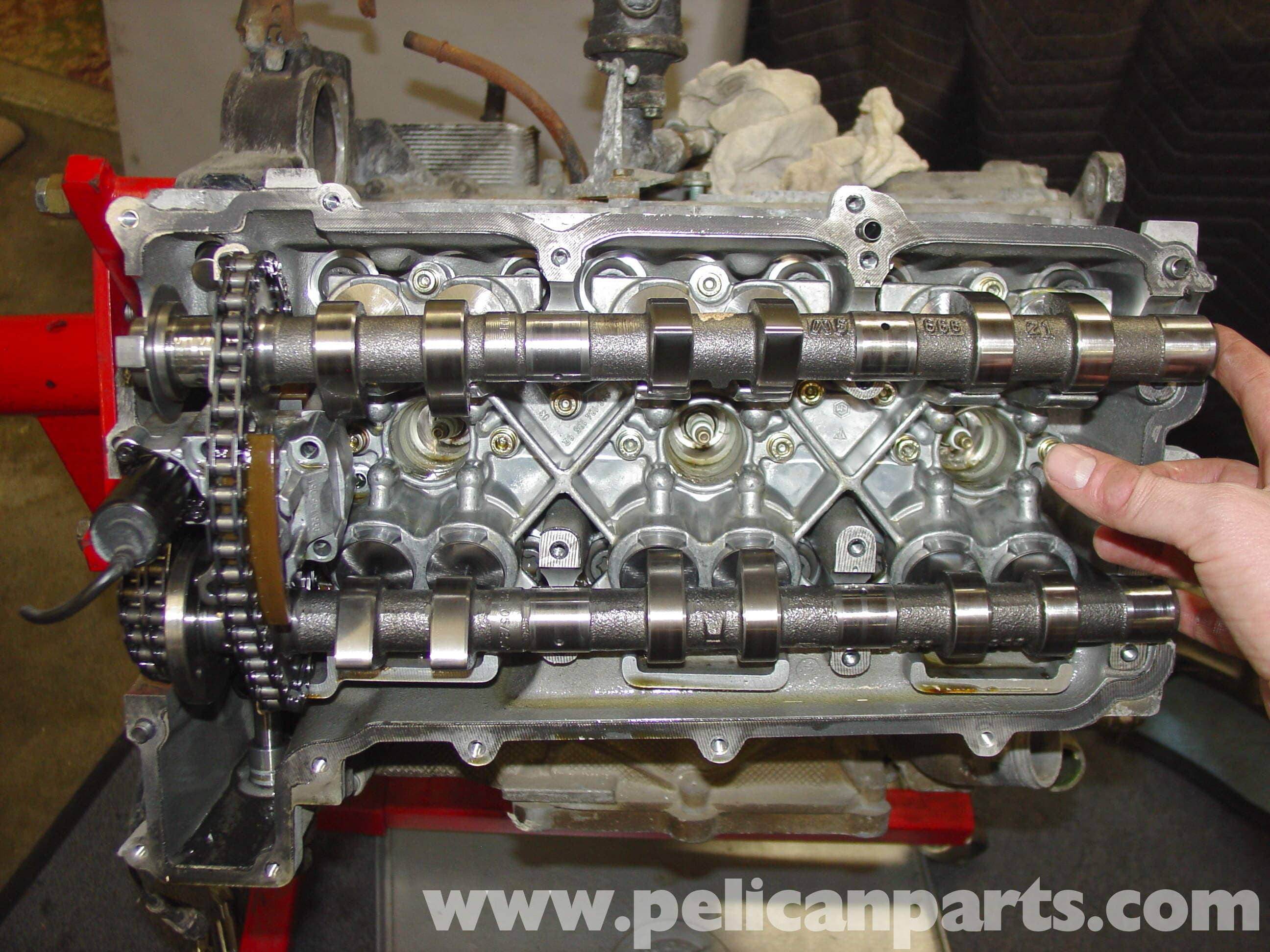 Porsche Boxster Camshaft Diagram Reveolution Of Wiring Engine Upgrade Chain Tensioner Replacement 986 Rh Pelicanparts Com 1999 Parts