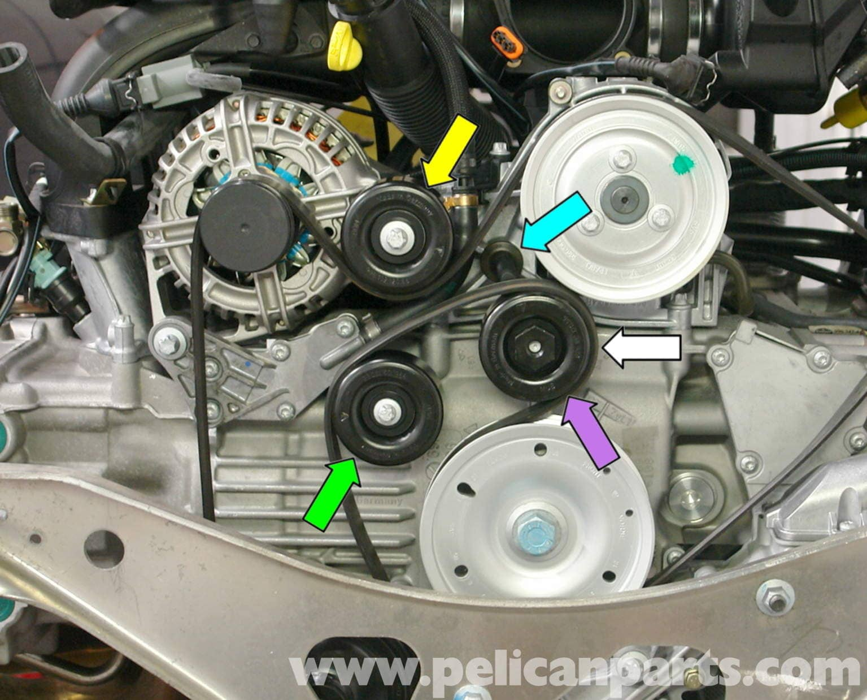 Porsche Boxster Idler Belt Pulley Replacement 986 987