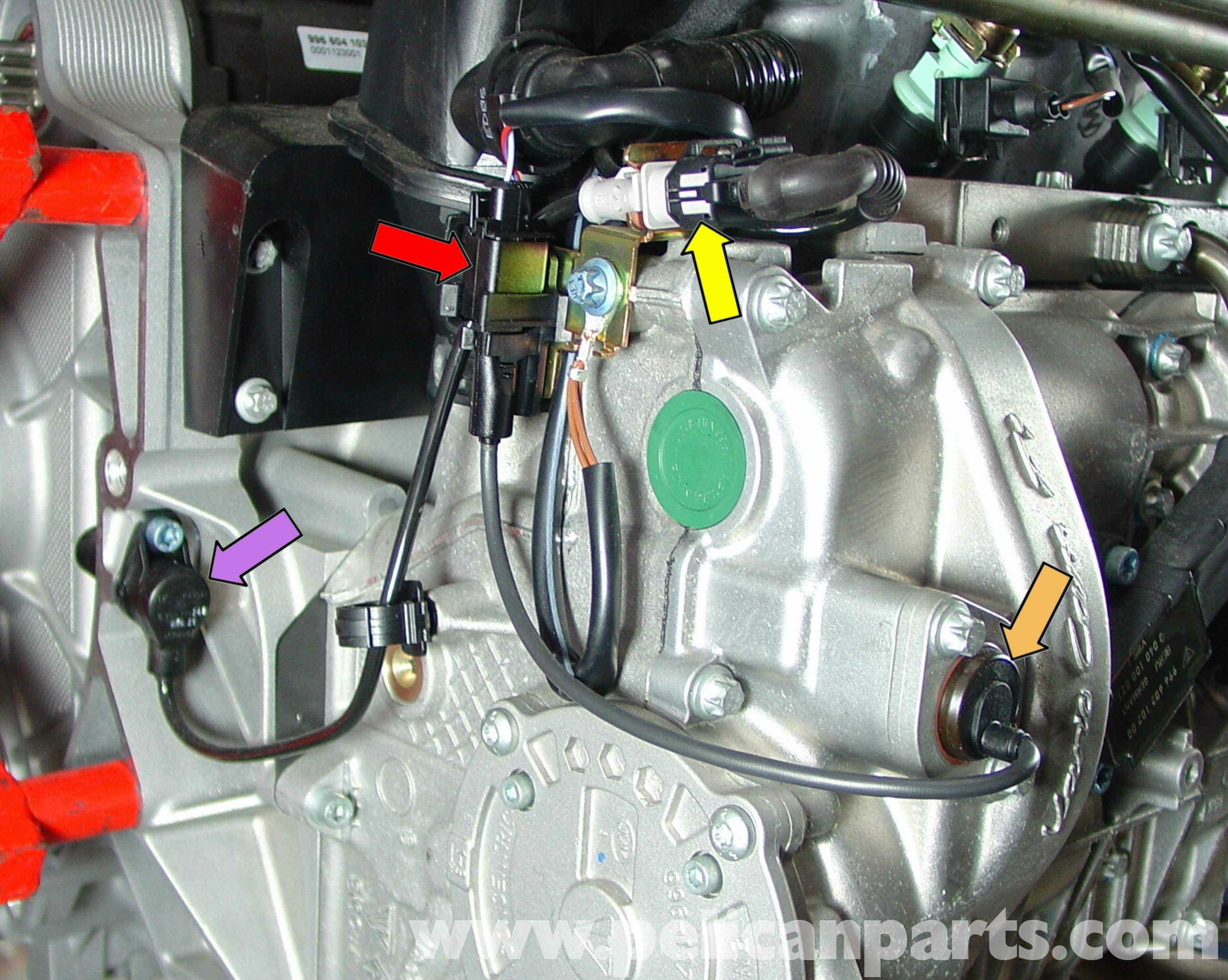 2001 Saab 9 5 Engine Diagram As Well 2004 Porsche Boxster Engine Images  Gallery. porsche boxster engine sensor replacement 986 987 1997 08 rh  pelicanparts ...