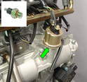 This photo shows the oil pressure sender / switch.