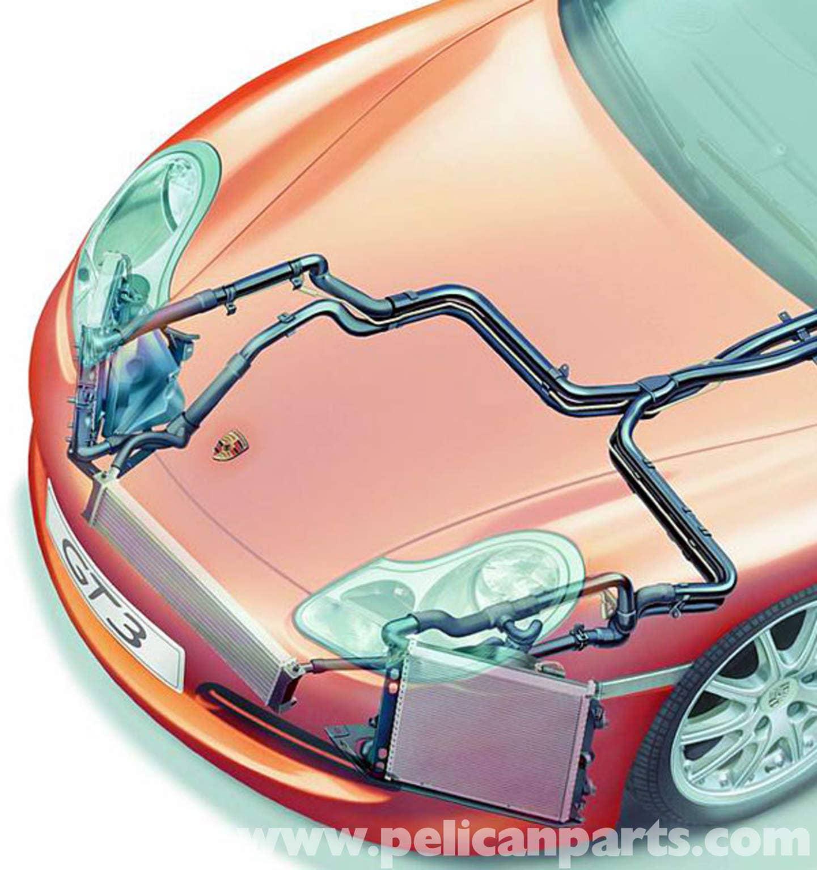 Porsche Boxster Center Radiator Installation 986 987 1997 08 Fuse Box Diagram Mercedes C300 Large Image