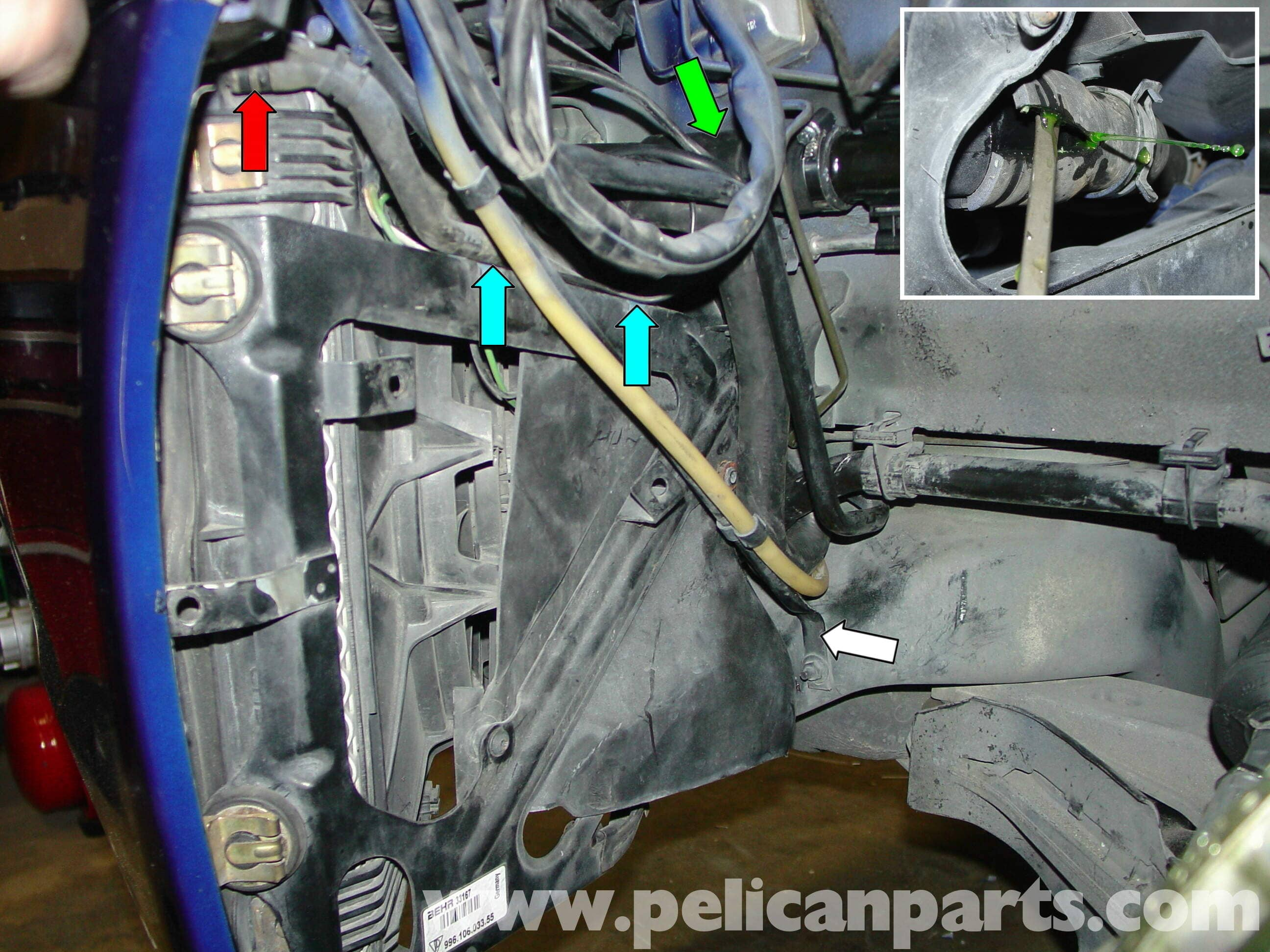 Porsche Boxster Radiator Replacement And Cleaning 986