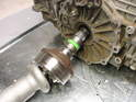 Here's a photo of the halfshaft after it has been pulled out of the transmission.