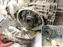 With the halfshafts removed, you can then pull off the differential cover.