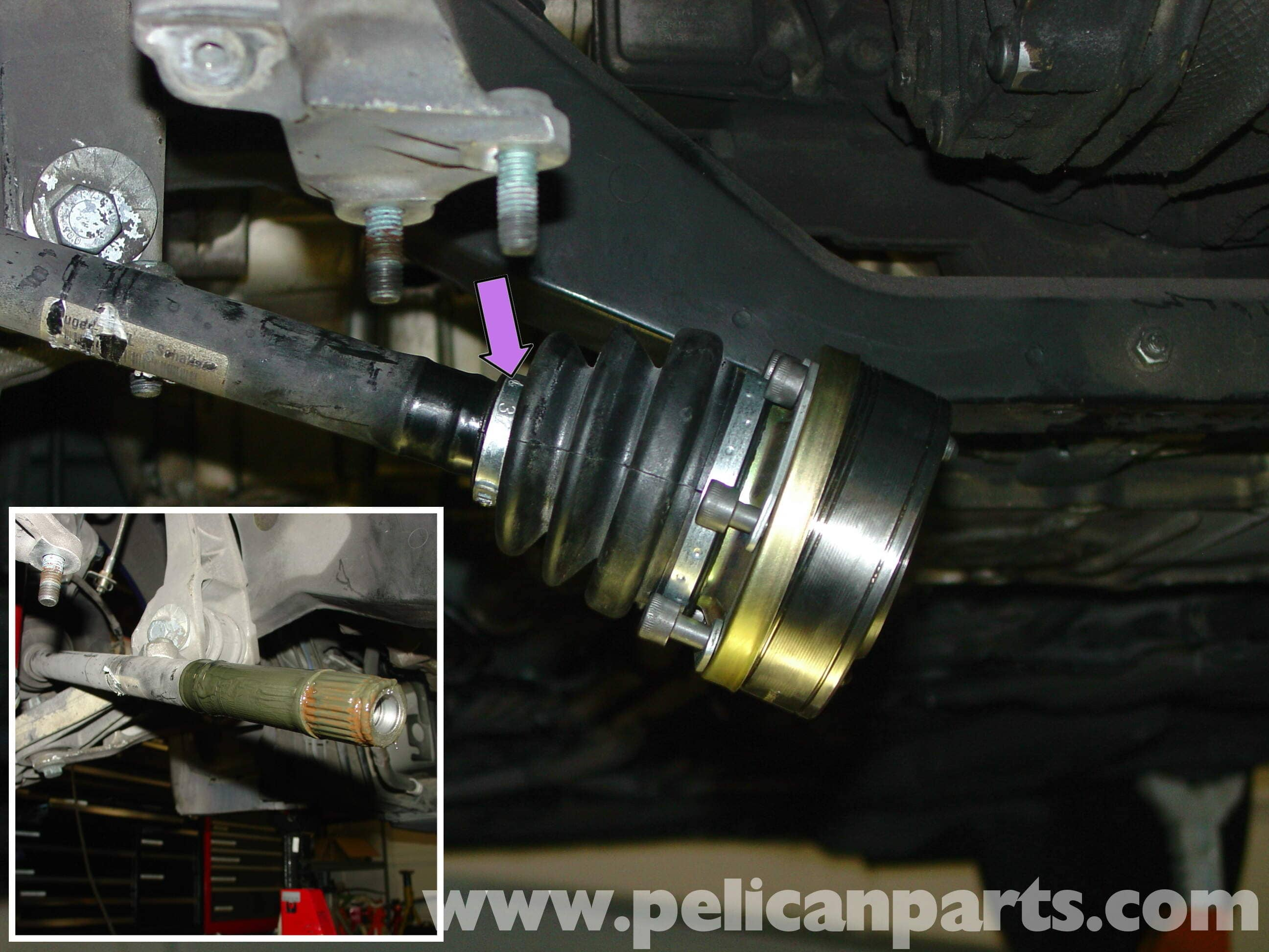 porsche boxster cv joints and boot    axle replacement - 986    987  1997-08