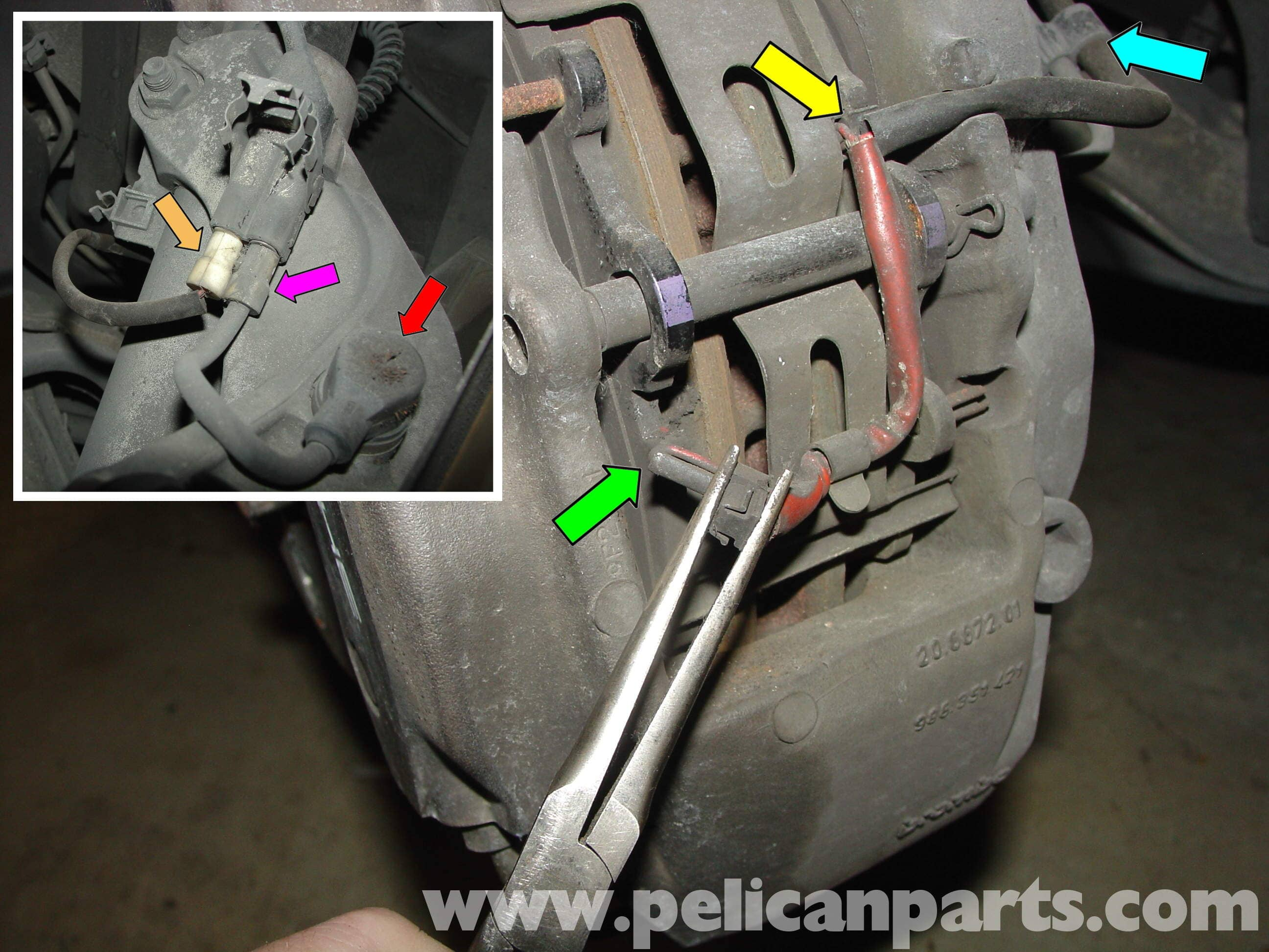 Replacement of brake pad and lining