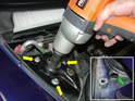 An electric impact wrench is a very handy tool for both removing and installing new shocks.