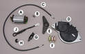 This photo shows some of the parts that you might need to repair your convertible top.