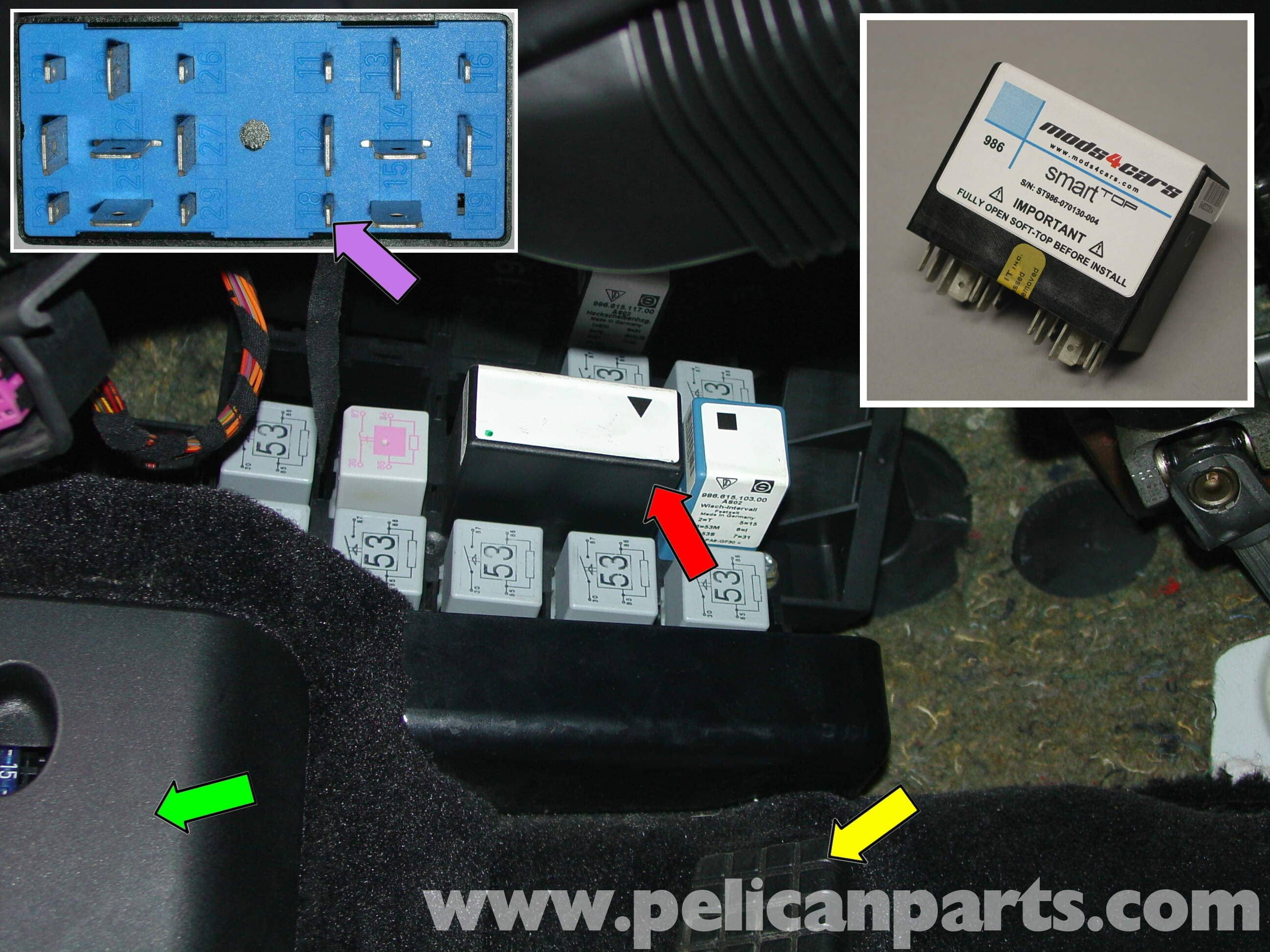Pic1 porsche boxster smart top roof control installation 986 987 porsche boxster fuse box diagram at bayanpartner.co