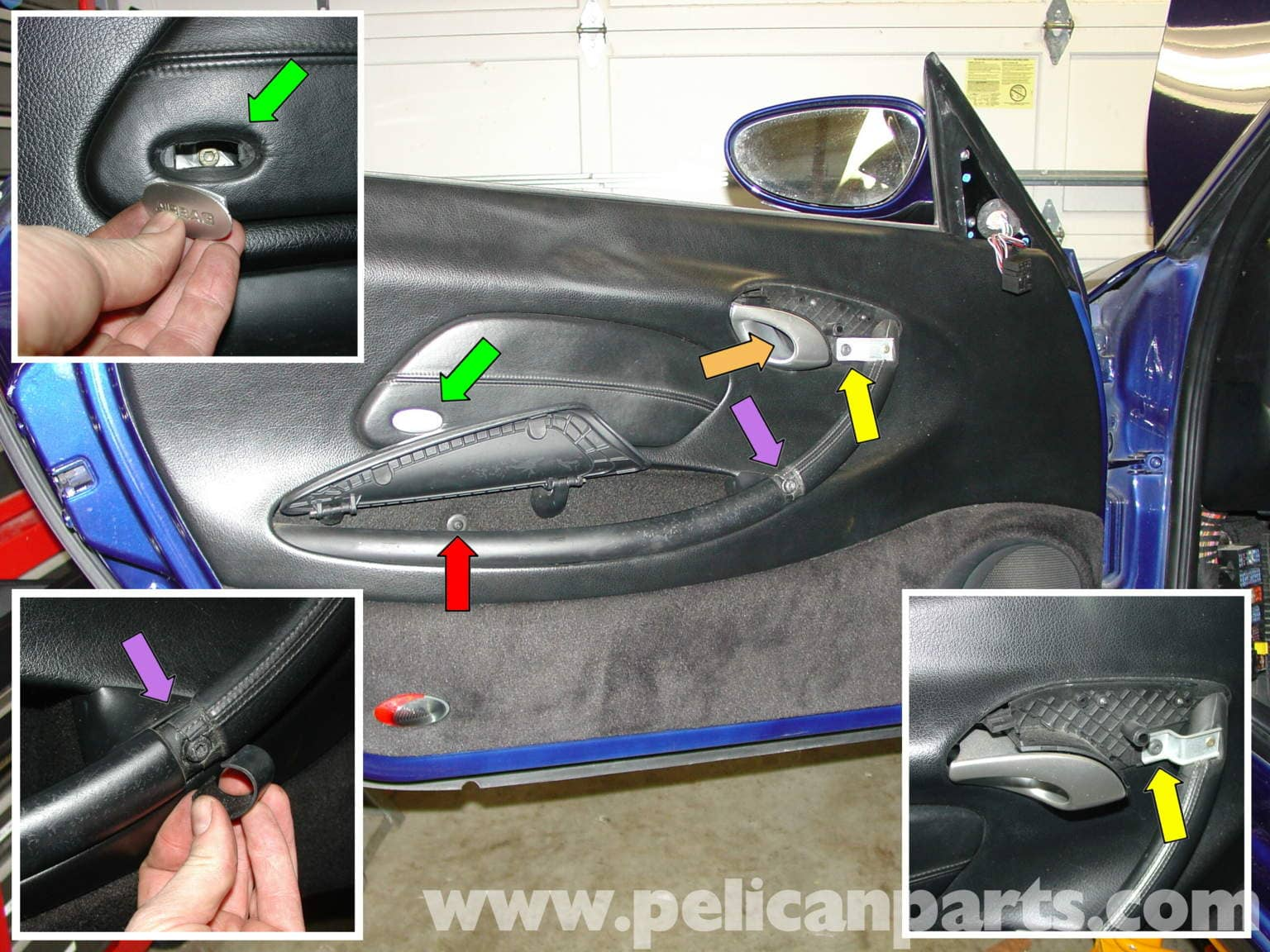 Porsche Boxster Door Panel Removal Mirror Switch