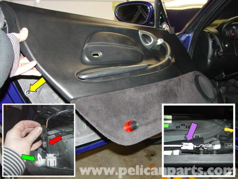 Porsche Boxster Door Panel Removal Mirror Switch