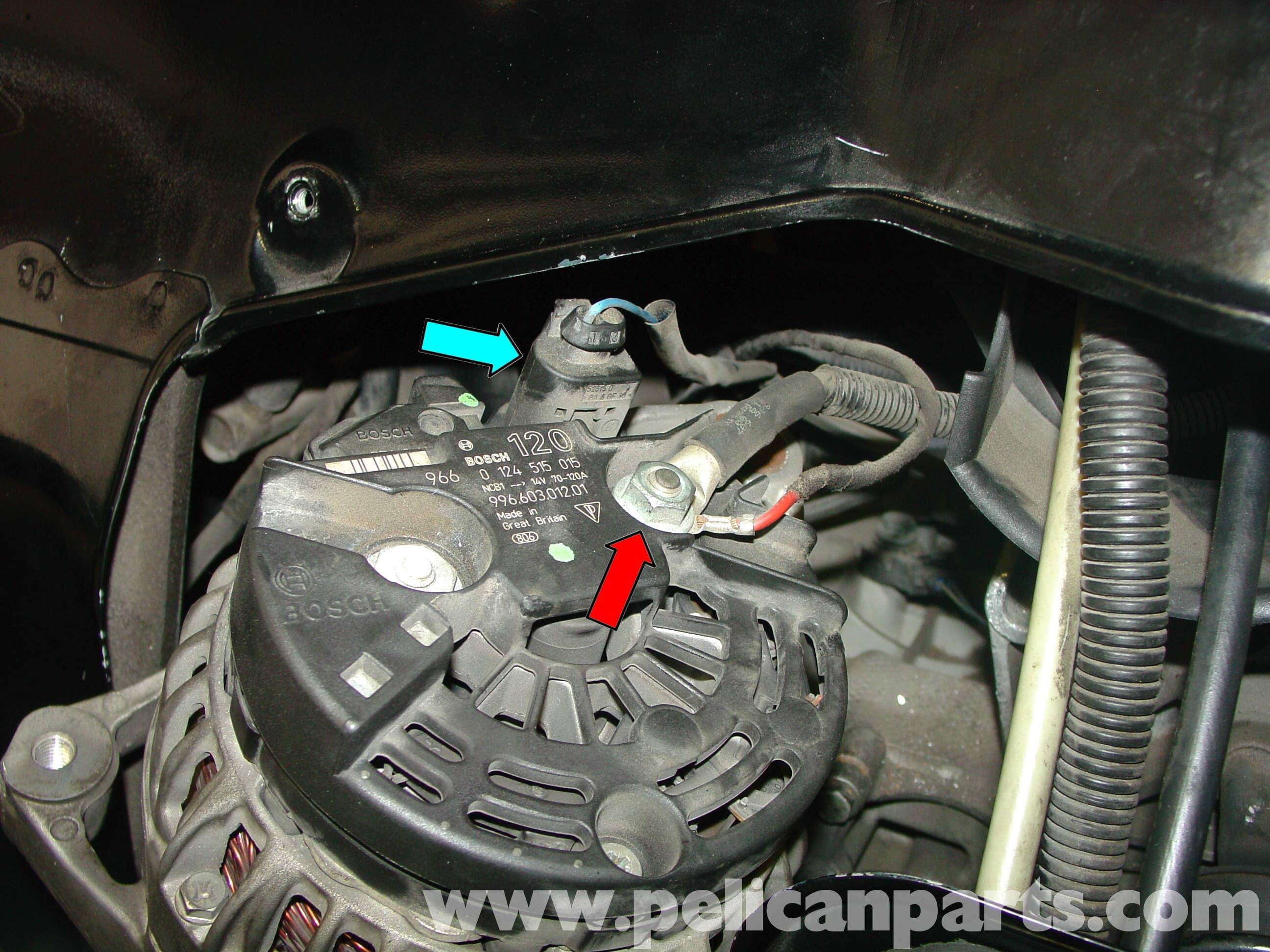 Pic5 porsche boxster alternator replacement 986 987 (1997 08 Alternator Adapter Harness at reclaimingppi.co
