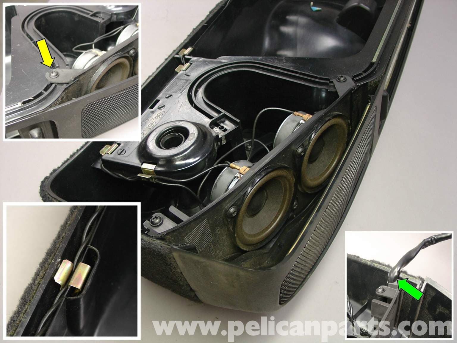porsche boxster rear speaker kit installation   987