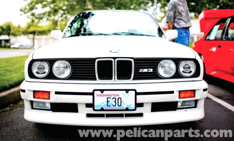 This M3 sports a European grille and headlights. The low-beam lights have a
