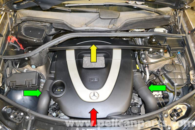 Mercedes-Benz X164 Engine Cover Removal (2007-2014) GL350 ...