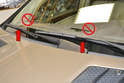 While changing the wiper blades on your own car is simple, quick and easy make that you do not let the wiper arm swing back and hit the windshield with no blade on the end.