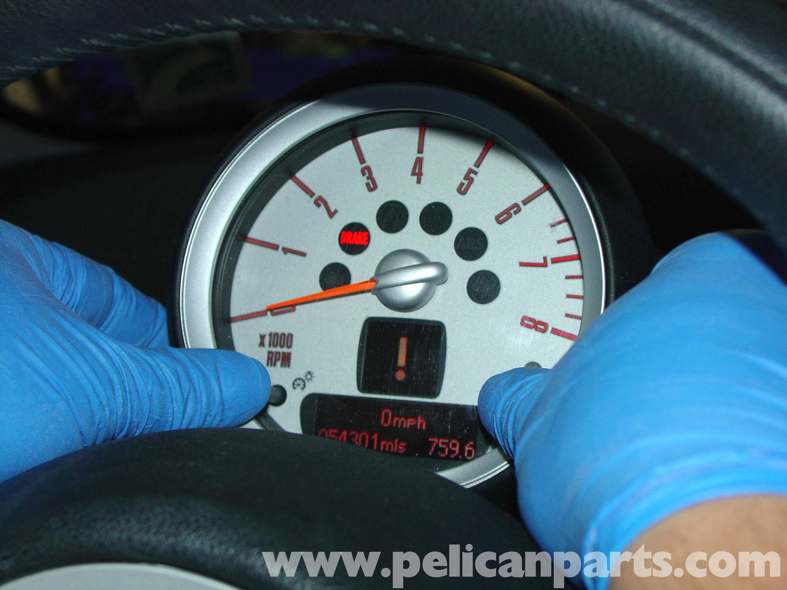 Mini cooper oil change r50r52r53 2001 2006 pelican parts diy service lights on the tachometer large image extra large image biocorpaavc Image collections