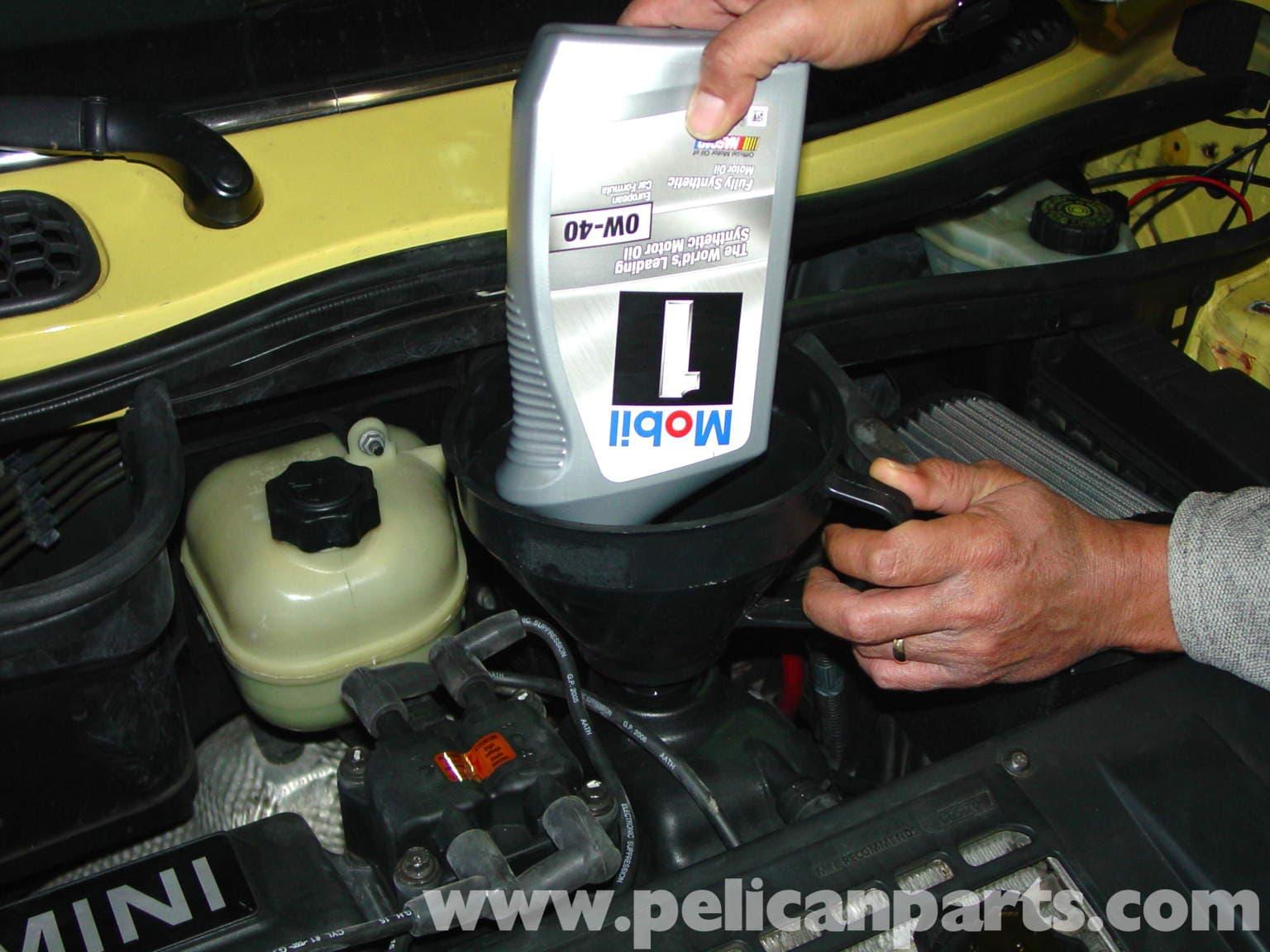 Mini Cooper Oil Change R50 R52 R53 2001 2006 Pelican