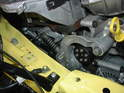 Here is the new belt tensioner installed on the side of the engine.