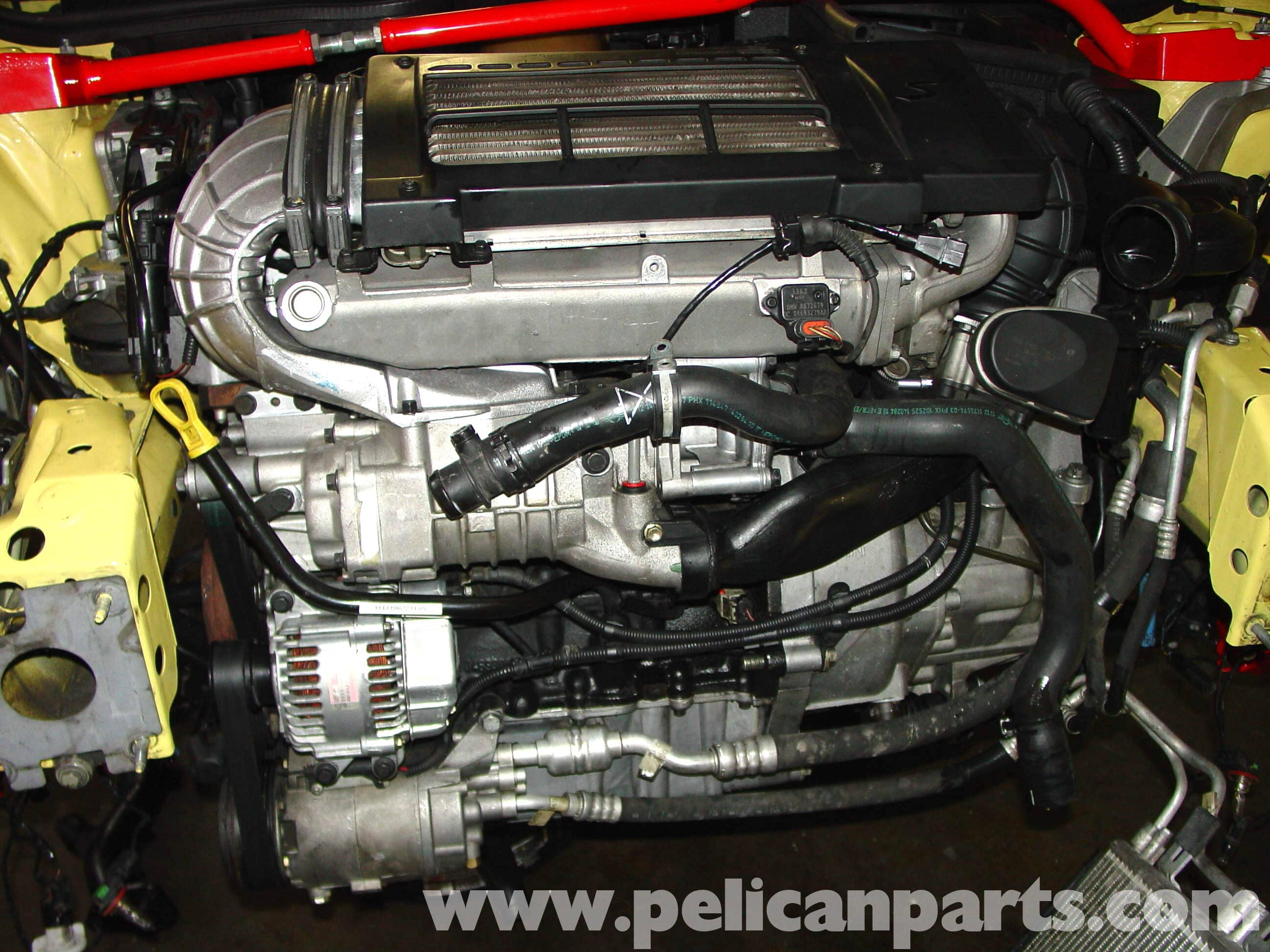 Pic11 mini cooper radiator, thermostat and hose replacement (r50 r52 r53 Compressor Wiring Diagram at gsmx.co