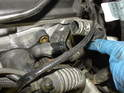 Loosen and remove the hose clamp at the rear of the housing and remove the hose.