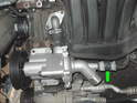 Shown here is the new water pump in place.