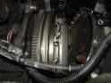 In thisPicture you can see the input shaft of the transmission free of the clutch.