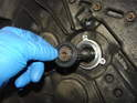 Clean the input shaft and slide the new input shaft seal down over the shaft in to place.