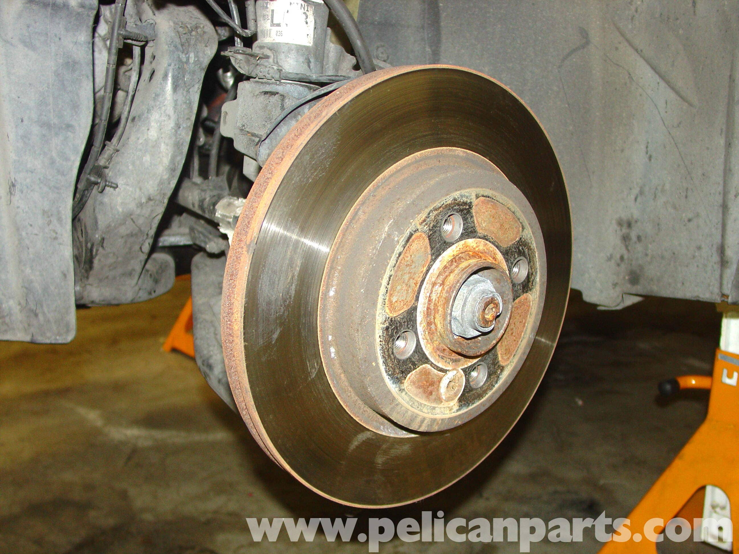 How to remove the brake disc 97