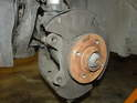 This is what you should see once the brake disc has been removed from the wheel hub.