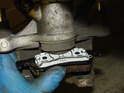 ThisPicture shows how the rear brake pads fit onto the piston.