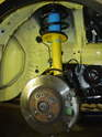 ThisPicture shows the new strut and spring installed in the MINI.