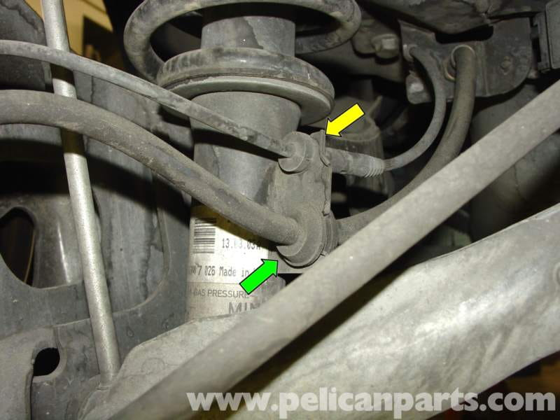 mini cooper rear shock and spring replacement r50 r52 r53 2001 2006 rh pelicanparts com Mini Cooper S Headlight Diagram Mini Cooper Engine Diagram